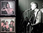 Thomas Hösli in jungen Jahren (rechts) sowie Cover und Sleeve des Steven's-Nude-Club-Albums «Trust No Magazine» (1988) mit dem Song «H.-Rap» auf der B-Side. (Bilder: PD)