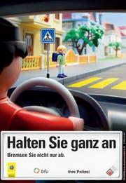 Die Verkehrssicherheitskampagne 2013: «Halt, bevor's knallt» (Bild: PD)