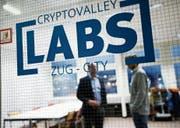 Ein Blick in die neu eröffneten Büros der Crypto Valley Labs auf dem LG-Areal in Zug. (Bild: Stefan Kaiser (Zug, 20. Februar 2018))