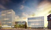 Das Siegerprojekt «Peripteros» auf dem Baufeld 1 des Bebauungsplans Suurstoffi West (Bild: Visualisierung: PD)