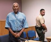 O. J. Simpson bei der Anhörung im Gefängnis in Lovelock. (Bild: Jason Bean/EPA (20. Juli 2017))