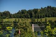 Ein Blick auf den Rotsee mit den installierten Anlagen für die Ruderregatta. (Bild: ZSO Emme)
