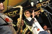 Sie sorgten für Stimmung am ersten «Brass am See»: Cojones de Toros... (Bild: Urs Hanhart und Florian Arnold)