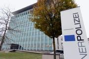 Polizeigebäude in Luzern am Dienstagnachmittag. (Bild: Keystone)