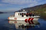 Das Seerettungsboot der Freiwilligen Feuerwehr Zug auf dem Zugersee. (Bild PD)