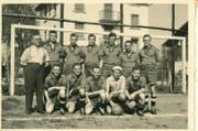 Das Team des SC Kriens aus dem Jahr 1949, das den Aufstieg in die 3. Liga schaffte. (Bild: Archiv SC Kriens)