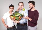 Sie haben Yamo gegründet: José Amado-Blanco, Tobias Gunzenhauser und Luca Michas (von links). (Bild: PD / Christian Seeholzer)