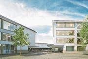Das neue Schulhaus Staffeln soll 2020 eröffnet werden. (Bild: Visualisierung: PD)