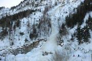 Am 24.02.2012 ereignete sich im Gebiet Bluematt/Chalcherli am Stanserhorn ein Lawinenniedergang. Dabei wurde ein 33-jähriger Mann verschüttet und getötet. (Bild: Kantonspolizei Nidwalden)
