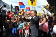 Empfang für Bundesrat Ignazio Cassis in Altdorf. (Bild: Urs Hanhart)