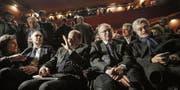 Die Rädelsführer der Spaltung: Enrico Rossi, Pierluigi Bersani, Guglielmo Epifani und Massimo D'Alema (von links). (Bild: Giuseppe Lami/EPA (Rom, 18. Februar 2017))