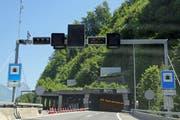 Das Nordportal des Seelisbergtunnels bei Beckenried. (Bild: René Meier / Luzernerzeitung)