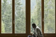Ein Flüchtling in einer Asylunterkunft. (Bild: Keystone/Alexandra Wey)