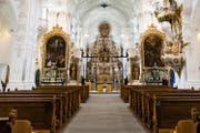 Reich verziert und schlicht zugleich: das Innere der Klosterkirche St. Urban. (Bild Roger Grütter)