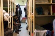 In der Unterkunft Kirchfeld in Horw werden nur junge Männer untergebracht. (Bild: Keystone (Symbolbild))