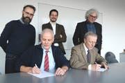 Thomas Huwyler, Urs Vogel, Mathias Regotz, Michael Roost, Hansjörg Felber (von links). (Bild: AAGU)