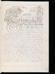 : Fol. 60r des Geschworenen Briefs (Rechtssatzungen der Stadt Luzern) von 1739, COD 1075 (Bild: Staatsarchiv Luzern)