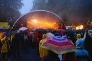 Viel Regen am B-Sides in Kriens. (Bild Dominik Wunderli)