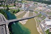 Die Bauarbeiten an de Einmündung der kleinen Emme in die Reuss sind abgeschlossen. (Bild: pd)