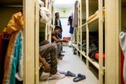 Asylsuchende in der Asylunterkunft in Dagmersellen beim Tag der offenen Tür im März dieses Jahres. (Symbolbild / Neue LZ / Philipp Schmidli)
