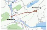 Hier soll der geplante neue Autobahnzubringer entstehen. (Bild: Quelle: Kanton Luzern, Grafik: Lea Siegwart)