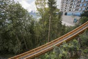 Die 32 Meter lange Konstruktion gewann 2016 den Nivea-Förderpreis. (Bild: KEYSTONE/Urs Flüeler)