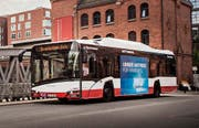 Der Bus «Solaris Urbino 12 electric» unterwegs in Hamburg. (Bild: PD / Solaris)