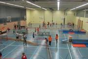 Die Turnhalle in Neuenkirch wird am Samstagabend rege genutzt. (Bild: PD)
