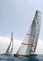 Die Yacht des America's-Cup-Siegers Alinghi von 2007. (Bild: Keystone)