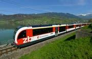 Nominiert in der Kategorie Innovation: Zentralbahn mit dem Bahnerlebnis Luzern-Interlaken (auf dem Bilder der Sarnersee). (Bild: Keystone / Urs Flüeler)
