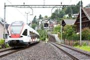 Die Doppelspur beim Bahnhof Walchwil. (Archivbild / Neue ZZ)