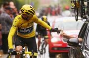 Der zweite Gesamtsieg für Chris Froome an der Tour de France und der dritte für das Team Sky in den letzten sechs Jahren: Wenn das kein Grund ist, darauf auf der letzten Etappe anzustossen. (Bild: Getty / Bryn Lennon)