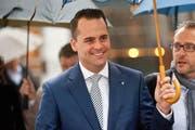 FDP-Ständeratskandidat Damian Müller befindet sich vpr dem zweiten Wahlgang in einer guten Ausgangslage. (Bild Boris Bürgisser)