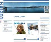 Neu präsentiert sich der Kanton Luzern auf seiner Homepage mit einem moderneren Design. (Bild: Screenshot Homepage)