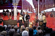 Max Christian Graeff mit «Canaille du Jour et les Maisonettes» letze Woche in Luzern. (Bild: Manuela Jans)