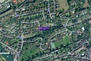 Der violett markierte Wettsteinweg ist ab dem 12. August nur beschränkt begehbar. (Bild: maps.search.ch)