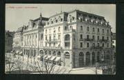 Die Luzerner Kantonalbank hatte ihren Hauptsitz früher in einem Monumentalgebäude im Neobarockstil, wie die Karte von 1914 zeigt. Das Gebäude an der Pilatusstrasse 12 bis 14 wurde 1909 vollendet und 1972 durch einen Neubau ersetzt. (Bild: pd)