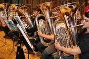 Luzerner Jugend Brassband (Bild: Marion Wannemacher, 11. April 2012)