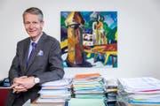 Tourismusdirektor Marcel Perren in seinem Büro in Luzern. (Bild: Philipp Schmidli (Luzern, 10. August 2017))