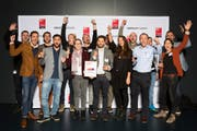 Advertima AG aus St. Gallen erhielt den Newcomer Award. (Bild: Jonas Weibel)