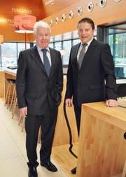 Verwaltungsratspräsident Peter Mattli (links) und CEO Alois Keiser (Bild: PD)