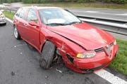Eines der am Unfall beteiligten Autos. (Bild: Luzerner Polizei)