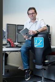 Robert Bachmann. Leiter der Online-Redaktion der Neuen Luzerner Zeitung. (Bild: Dominik Wunderli / Neue LZ)