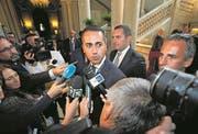 Politisch unbeschriebenes Blatt: Der 31-jährige «Cinque-Stelle»-Spitzenkandidat Luigi Di Maio. (Bild: Keystone)
