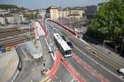 Blick auf die Langensandbrücke in Luzern. (Bild Manuela Jans/Neue LZ)
