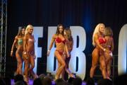 Der Schönheitswettbewerb der Frauen an der Fitnessmesse Go Active. (Bild: Dominik Wunderli (LZ))