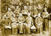 Die älteste Fotografie des Lehrerkollegiums wurde im Jahr 1871 aufgenommen. (Bild: Stiftsarchiv Muri-Gries/PD)