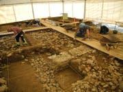 Ausgrabungen in vollem Gange. (Bild: Kantonsarchäologie Luzern)