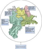 Übersicht über die Regionen. (Bild: Grafik: PD)