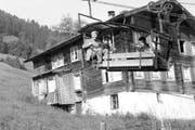 Die erste Bahn auf die Alp Rinderbühl wurde 1923 als Milchbähnli erbaut. (Bild: PD)